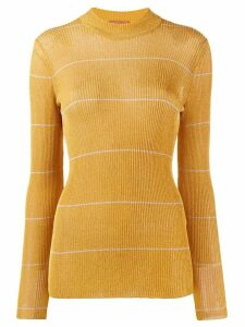 Missoni delicate stripe jumper - Yellow