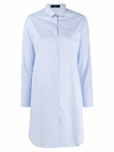 Steffen Schraut striped long shirt - Blue