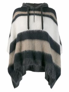 Brunello Cucinelli oversized hooded sweater - Blue