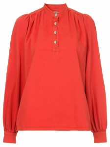 Ganni stand up collar shirt - Red