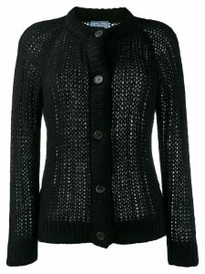 Prada open stitch cardigan - Black