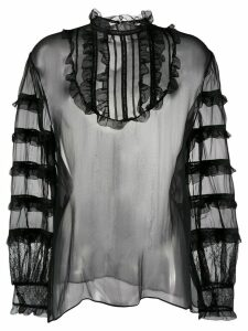 Valentino sheer organza blouse - Black