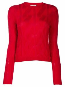 Chloé cable knit jumper - Red