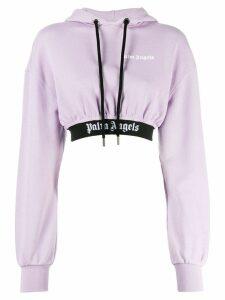 Palm Angels cropped hoodie - PURPLE