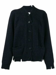 Maison Margiela distressed knitted cardigan - Blue