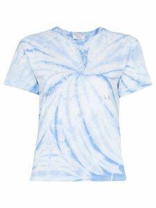 Collina Strada tie-dye pierce detail T-shirt - BLUE