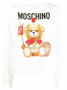 Moschino Roman Teddy print sweatshirt - White