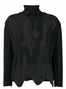 Marco De Vincenzo turtle-neck sheer sweater - Black