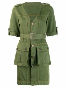 House of Holland military mini dress - Green