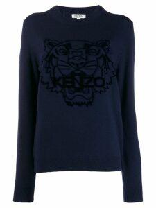 Kenzo tiger intarsia jumper - Blue