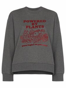 Stella McCartney Powered By Plants print sweatshirt - Grey