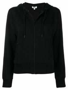 Kenzo rear logo print zipped hoodie - Black