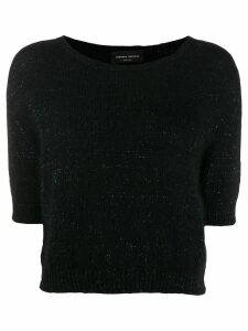 Roberto Collina glitter-knit top - Black