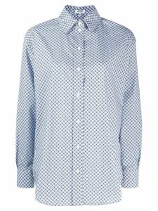 Kenzo tiger embroidered shirt - Blue
