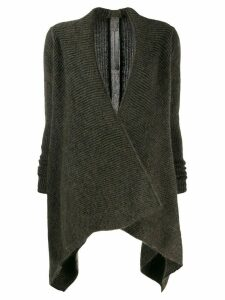 Rick Owens ribbed cardigan - Brown