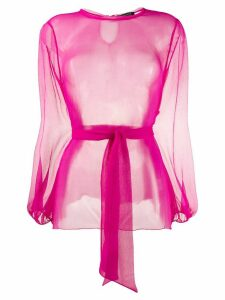 Gianluca Capannolo tulle blouse - PINK