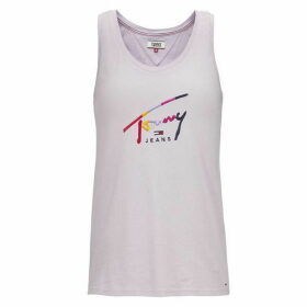 Tommy Jeans Script Tank Top - Pastel Lilac
