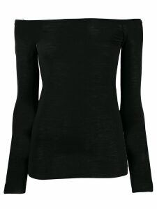 Stella McCartney off the shoulder fitted top - Black