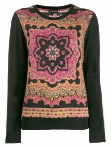 Etro embroidered fitted sweater - Black