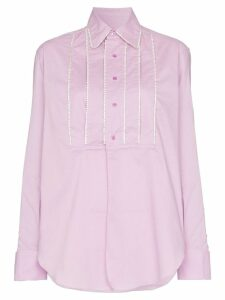 AREA embellished tucks tailored shirt - PINK