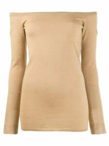 Stella McCartney off shoulder fitted top - Neutrals
