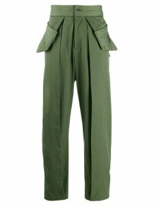 Chalayan deconstructed trousers - Green