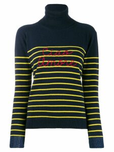 Giada Benincasa striped logo jumper - Blue