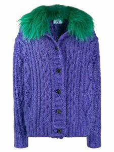 Prada cable-knit cardigan - Purple