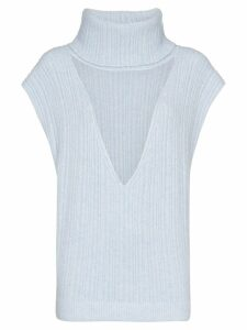 Jacquemus turtleneck cut-out knit vest - Blue