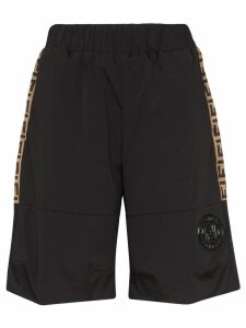 Fendi FF logo panel shorts - Black