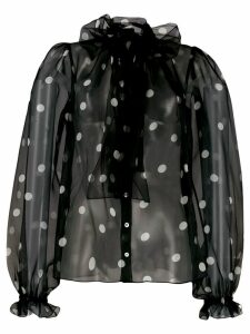 Dolce & Gabbana polka-dot blouse - Black