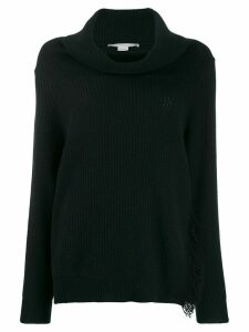 Stella McCartney side fringed jumper - Black