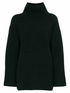 Jacquemus ribbed turtleneck jumper - Green