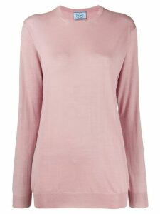 Prada relaxed fit jumper - PINK