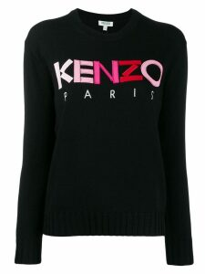 Kenzo ombré logo embroidered jumper - Black