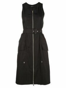 Derek Lam Belted Organic Cotton Tank Dress with Topstitch Detail -