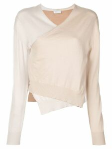Rosetta Getty wrap front sweater - NEUTRALS