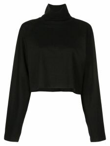 Rosetta Getty cocoon knitted top - Black