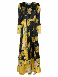 We Are Leone floral print maxi cardigan - Black