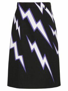 Prada lighting bolt print skirt - Multicolour