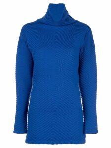 Victoria Victoria Beckham chevron knitted jumper - Blue