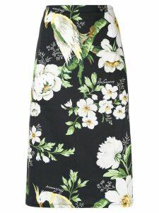 Carolina Herrera floral pencil skirt - Black