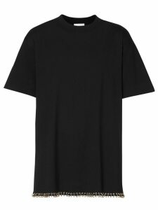 Burberry Ring-pierced Cotton Oversized T-shirt - Black