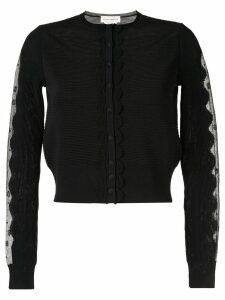Alexander McQueen Ottoman knit cardigan - Black