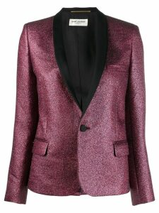 Saint Laurent glitter tuxedo blazer - Red