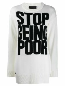 Philipp Plein Statement jumper - White
