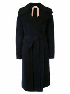 Nº21 button front coat - Black
