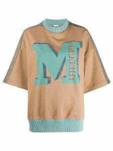 M Missoni oversized logo print sweatshirt - NEUTRALS