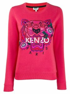 Kenzo Tiger embroidered floral sweatshirt - Pink