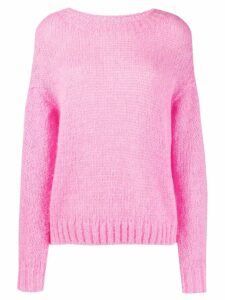 Closed dropped shoulder sweater - PINK